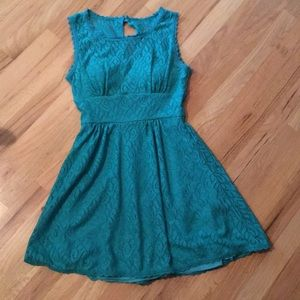 B. Darlin Teal Lace Party Dress Women's Size 3/4